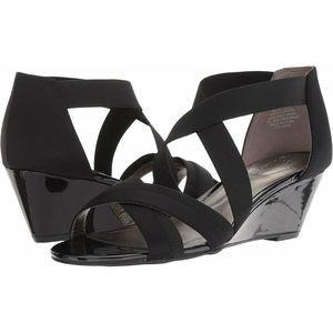 Bandolino Women's Octavio Black Sandals, 9 M US